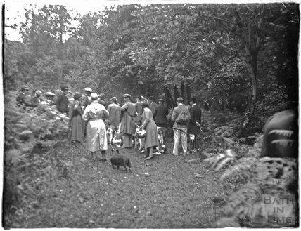 The hunt and hounds, near Minehead 1924