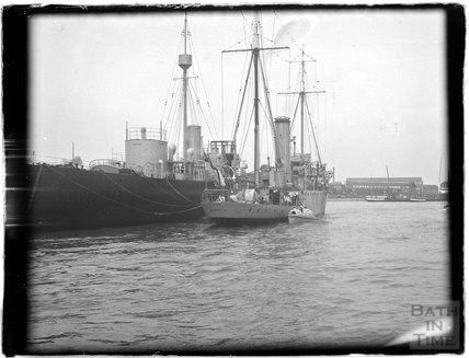 Vessels at Portsmouth Harbour, 1933