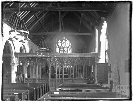 Inside St Michael's Church, Minehead, 1933 or 1924