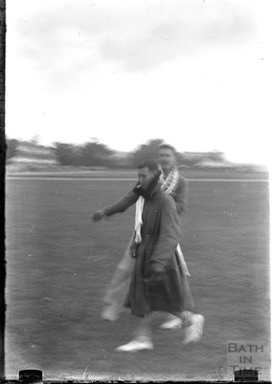 Thought to be the photographer's twins, shot in motion c.1930s