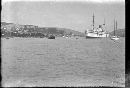 A passenger liner in Dartmouth c.1930s