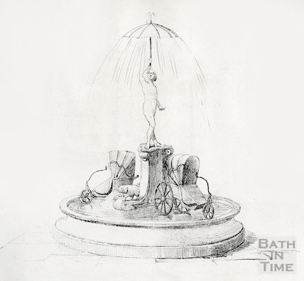 A rejected design for a fountain, Abbey Church Yard c.1855