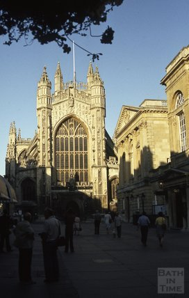 Bath Abbey in shadow 1984