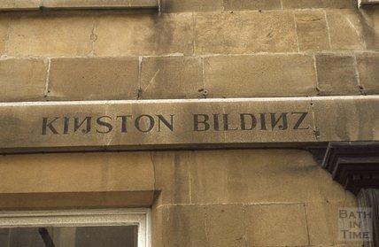 Lettering for Kingston Buildings, Kingston Parade, Bath 1980