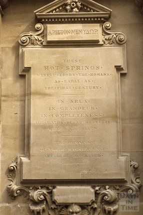 Stone tablet commemorating the Hot Springs of Bath, York Street 1980