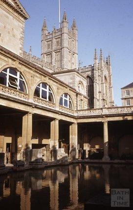 The Roman Great Bath and Abbey, Bath 1984
