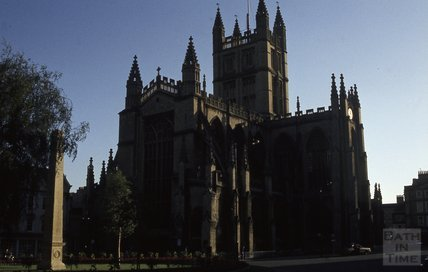 Bath Abbey from Orange Grove 1984