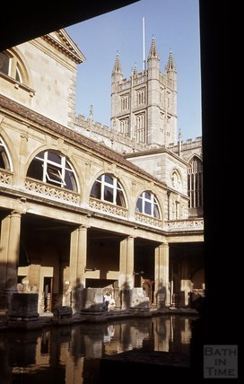 The Roman Great Bath and Abbey, Bath 1984