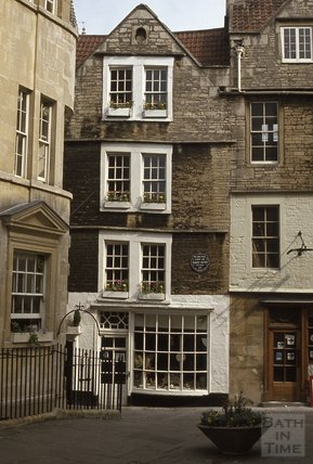 Sally Luns and North Parade Passage, Bath 1980