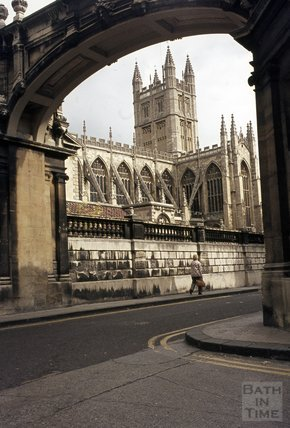 Bath Abbey from York Street, 1979