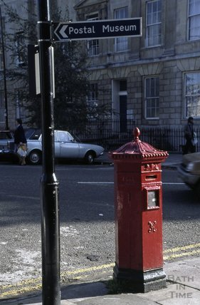 Victorian post box, Laura Place, Great Pulteney Street, 1979