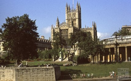 Bath Abbey from Parade Gardens, 1979