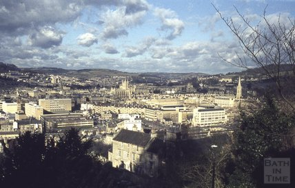 View of Bath from Beechen Cliff 1973