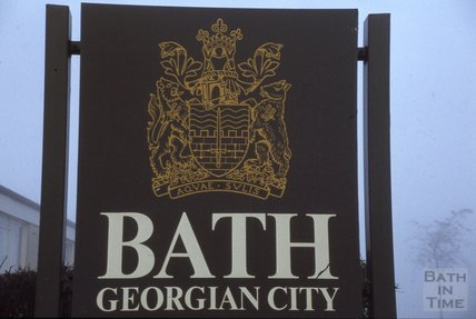 Bath Georgian City Sign, 1979
