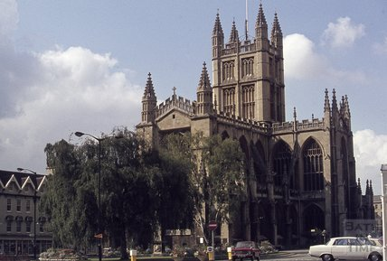 Bath Abbey, and Orange Grove, 1979