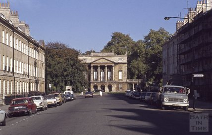 The Holburne Museum, viewed up Great Pulteney Street, Bath, 1979