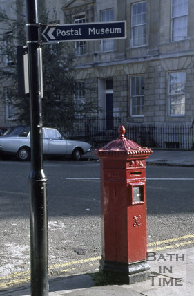 Victorian post box on Great Pulteney Street, 1979