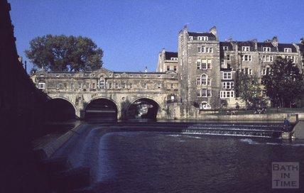 Pulteney Bridge and Weir, 1979