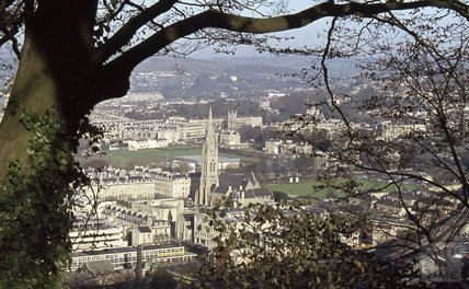 View of St Johns and the Recreation Ground from Beechen Cliff, 1979