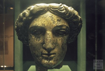 Minerva's head, the Roman Baths, 1979