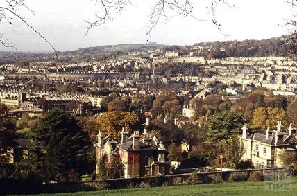 View of Bath from North Road, 1979