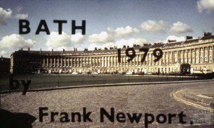 Title Slide, AV show, Royal Crescent c.1979