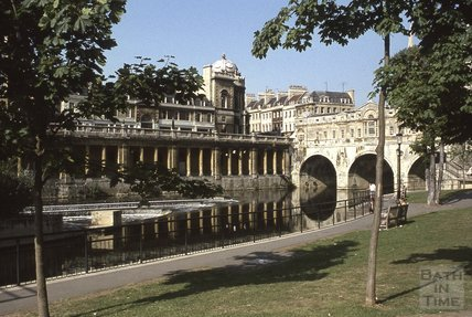 Pulteney Bridge and weir, 1975