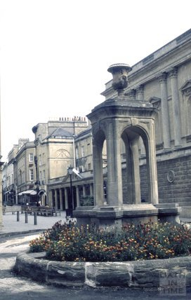 The mineral fountain at the end of Bath Street, 1979