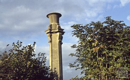 Pumping station chimney on the Kennet and Avon Canal, Widcombe, Bath 1979