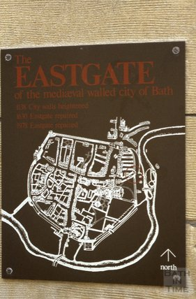 1979 Eastgate information sign, Bath
