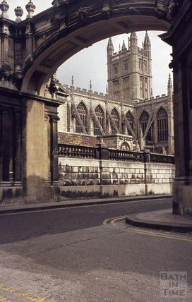 Bath Abbey from York Street, 1979