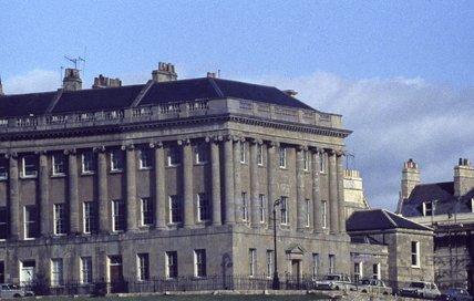 No 1 and 1A Royal Crescent, Bath, 1979