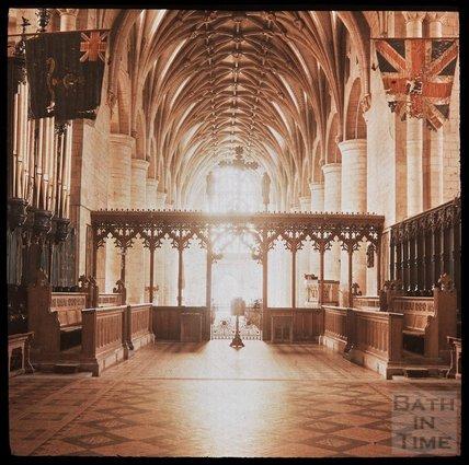 Tewkesbury Abbey, Gloucester, c.1937