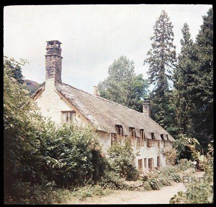 Thatched Cottages, Dunster, c.1937