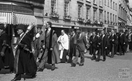Civic mayoral procession from the Guildhall to the Abbey 8 June 1980