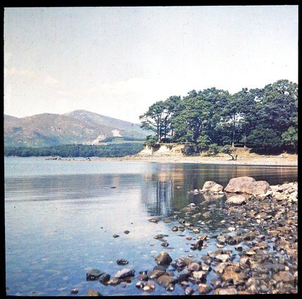 Derwent Water, Cumbria on a cloudy day, c.1937