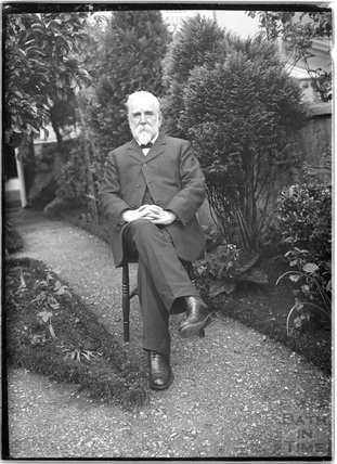 Mr Unwin in his garden c.1910