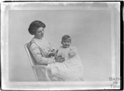 Copy of a photographic portrait of a mother and child c.1906