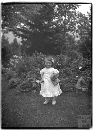Young girl, Monkton House, Warminster Road, Limpley Stoke c.1910s