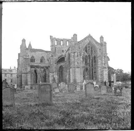 Melrose Abbey, Scotland ruins, c.1900