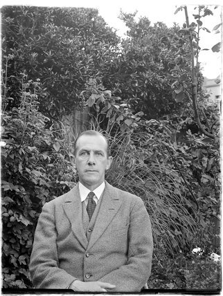 Unidentified man in a garden c.1900