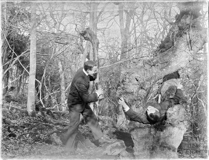 Clowning around probably at Bathampton Rocks c.1900