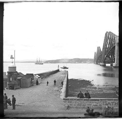 In the shadow of the Forth Bridge, Edinburgh c.1900