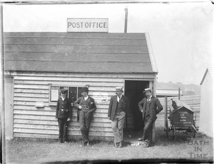 Posing outside the field Post Office c.1900