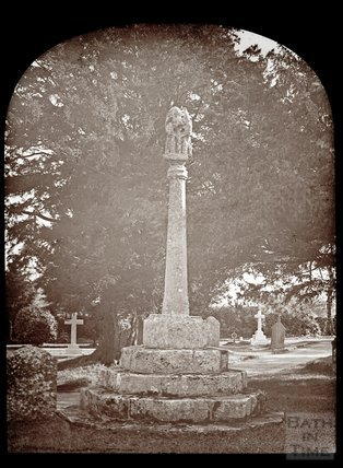 A shaft of light in the churchyard of St Mary Magdalene, Chewton Mendip, c.1910s