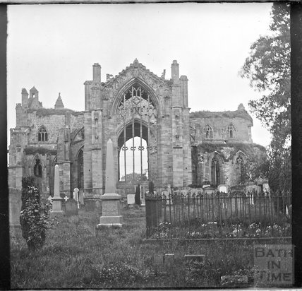 Melrose Abbey, Scotland ruins, c.1900