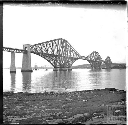 The iconic Forth Rail Bridge, Edinburgh, c.1900