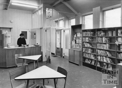 Inside Moorland Road Library, 1962