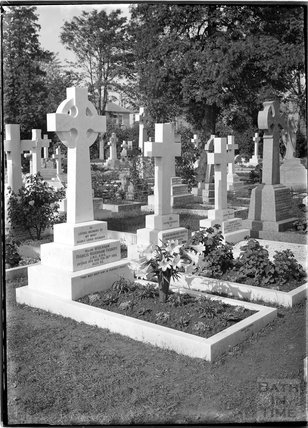 Grave of Major Francis Widdham Fosbery, died 1935.