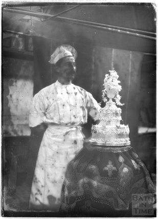 The chef and a wedding cake, c.1920s